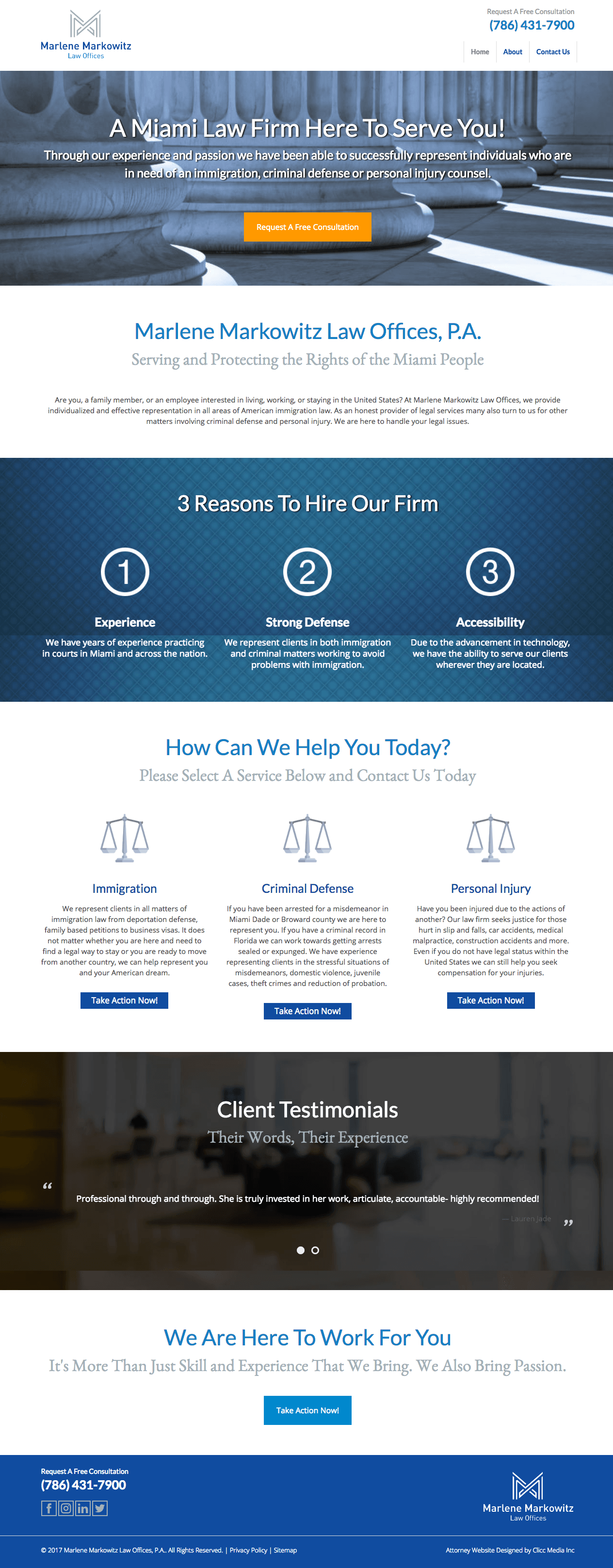 markowitz custom legal webiste
