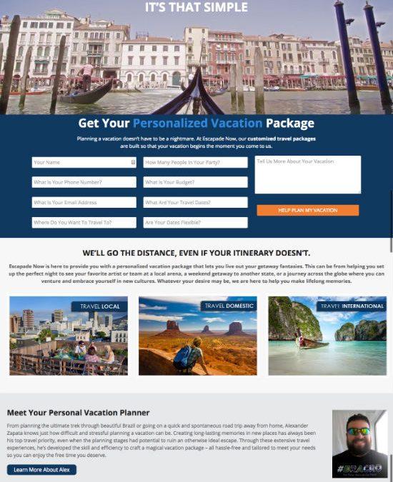 Escapade Now Launches New Custom Travel Website