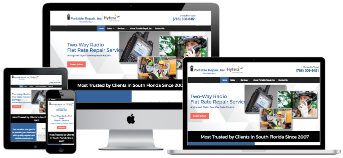 Portable Repair responsive website