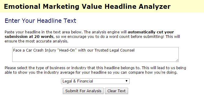 EMV analyzer legal content headline