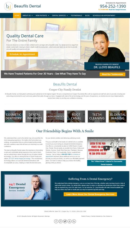 Beaufils Dental custom website