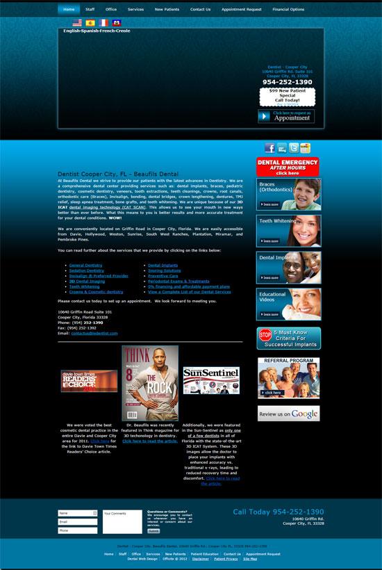 Old Beaufils Dental website