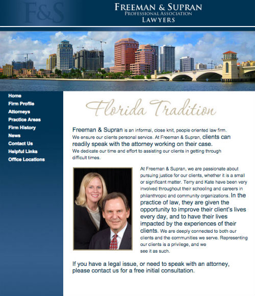 Freeman & Supran outdated lawyer web design