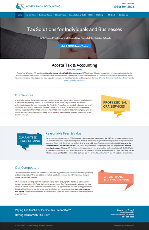 new Acosta Tax & Accounting website