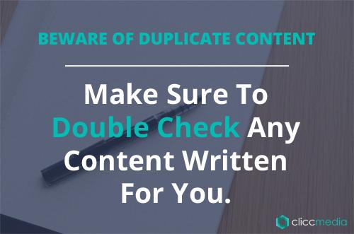 beware of duplicate content