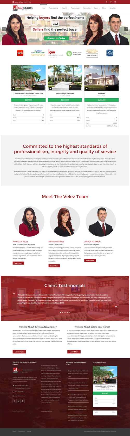 New velez Real Estate website