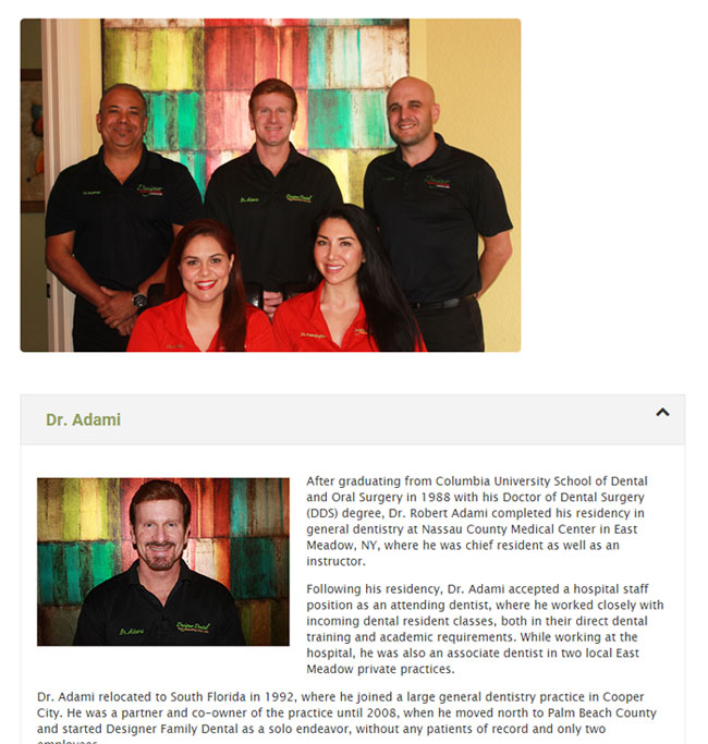 dental team photo example