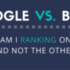 ranking on google and bing search engines