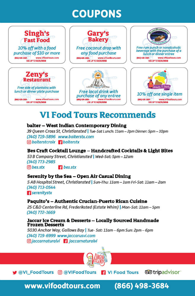 vi food brochure insert
