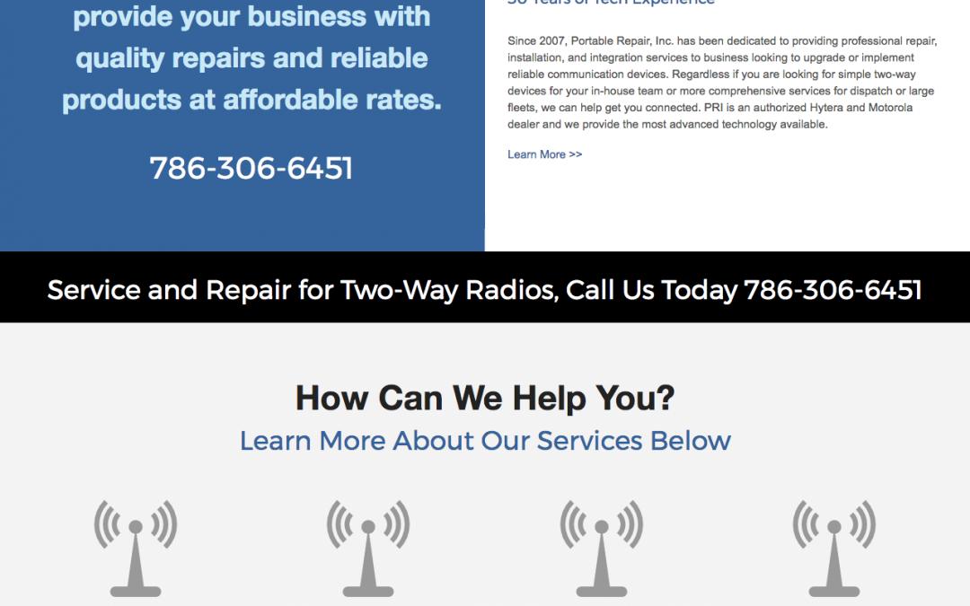 New Custom Website for Portable Repair, Inc