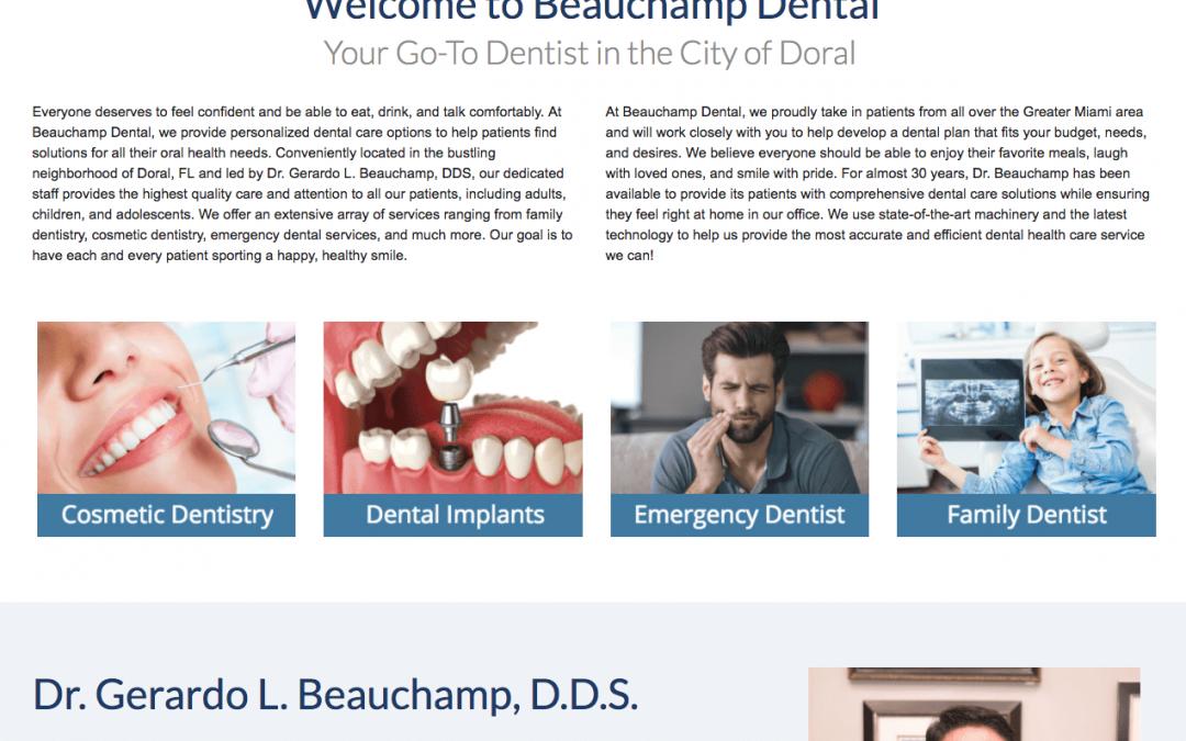 Website Makeover for Beauchamp Dental