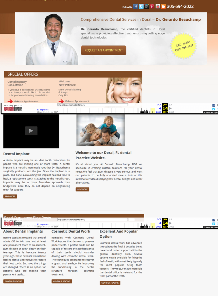 Old Beauchamp Dental website