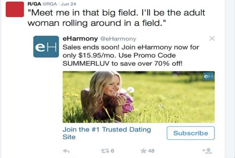 eharmony tweet