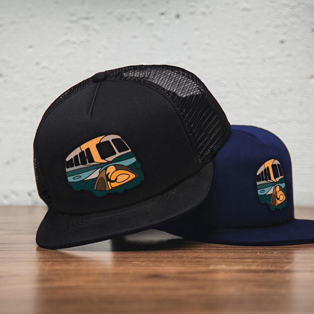 campervan logo on cap