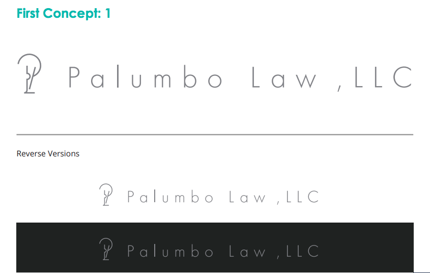 palumbo law logo concept 1