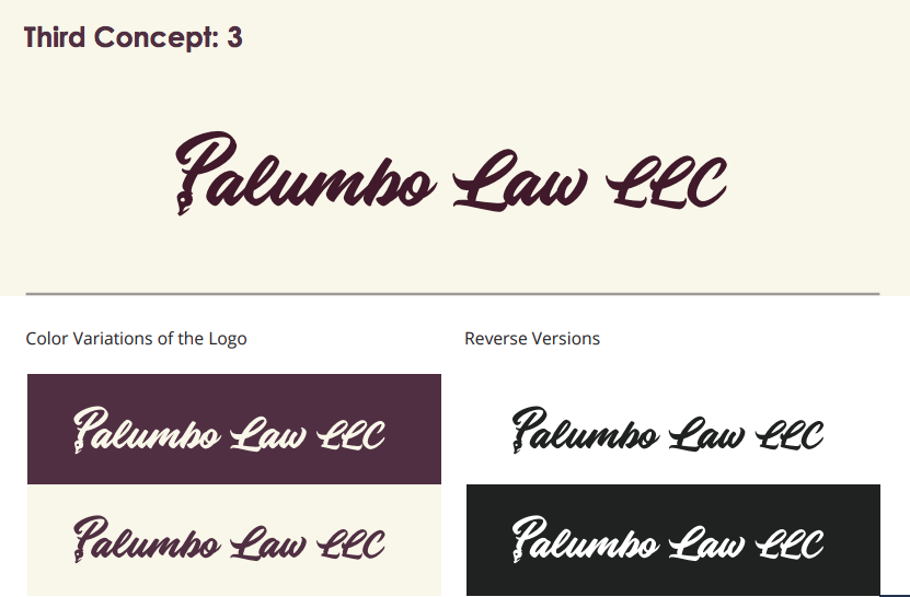 Palumbo law logo concept 3