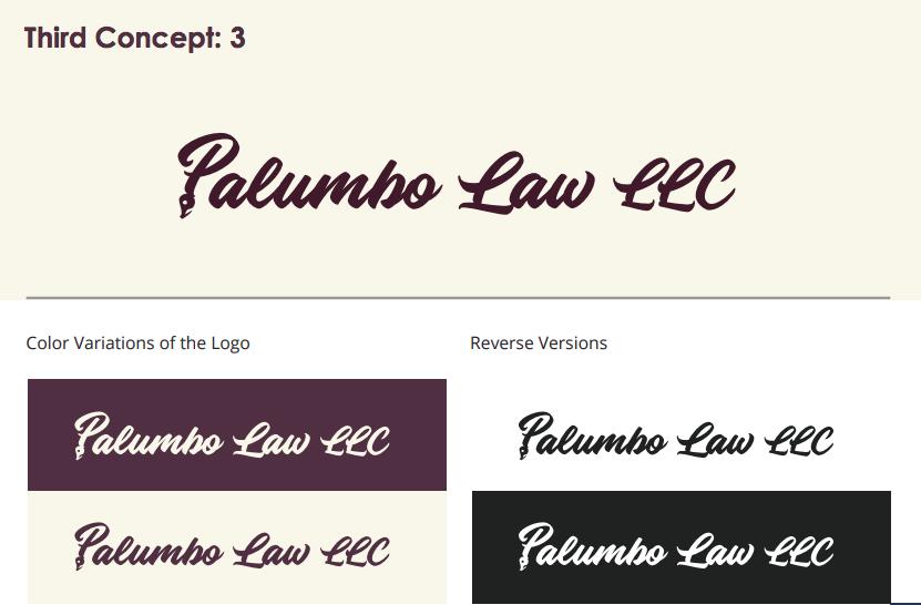 Palumbo law logo concept 3
