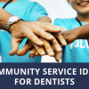 community service ideas for dentists