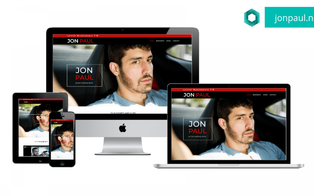 Actor Website Redesign for Jon Paul
