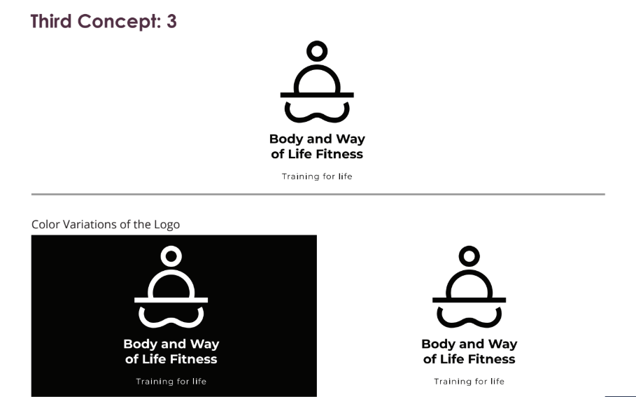 body and way of life logo concept 3